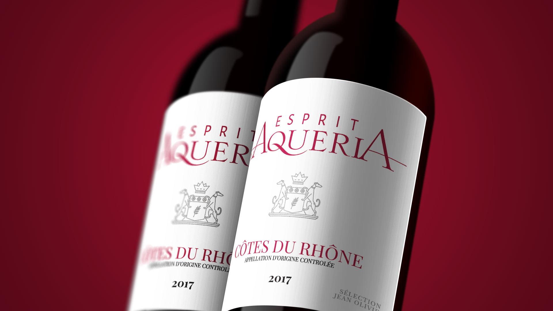 bouteille vin chateau d'Aqueria